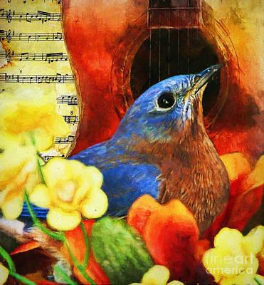 Digital Art - Songbird by Tina LeCour