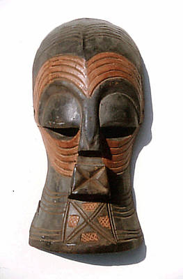 Sculpture - Songe Mask by Everett Spruill