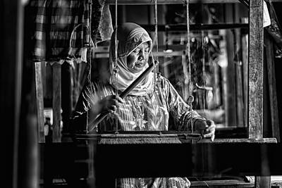 Woven Photograph - Songket Maker by Erwin Astro