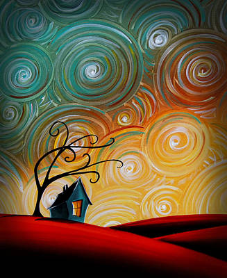 Spiraling Painting - Songs Of The Night by Cindy Thornton