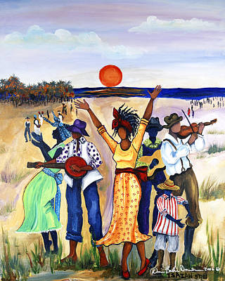 African Child Painting - Songs Of Zion by Diane Britton Dunham