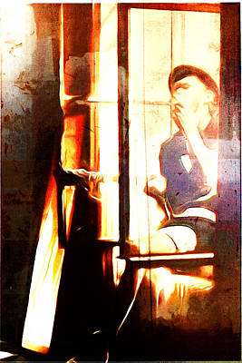 Digital Art - Songwriter At The Window by Andrea Barbieri