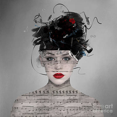 Digital Art - Songwriter by Nola Lee Kelsey