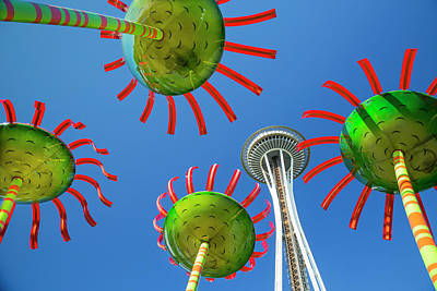 Daytime Photograph - Sonic Bloom In Seattle Center by Adam Romanowicz