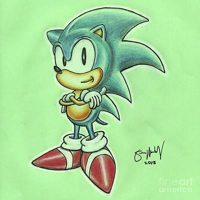 Sonic Drawing Art Print by Simon Moulding