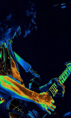 Edward Van Halen Photograph - Sonic Guitar Explosions Art 1 by Ben Upham