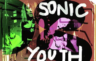 Bob Dylan Mixed Media - Sonic Youth Poster  by Enki Art