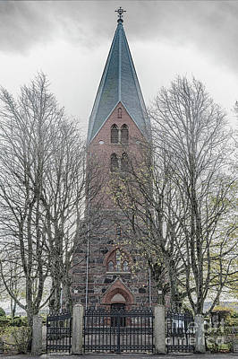 Photograph - Sonnarslovs Church In Sweden by Antony McAulay