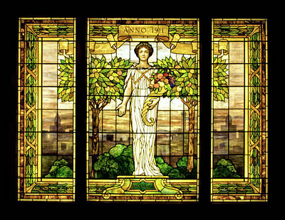 Photograph - Sonnenberg Gardens Stained Glass Window by Carolyn Derstine