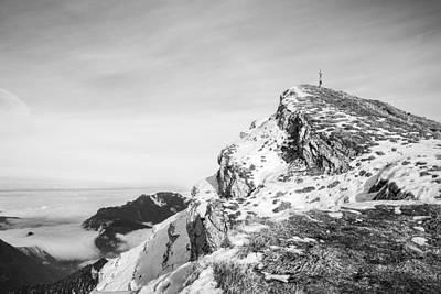 Photograph - Sonntagshorn - High Above The Clouds by Alexander Kunz