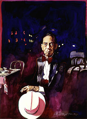 Harlem Painting - Sonny Greer Jazz Drummer by David Lloyd Glover