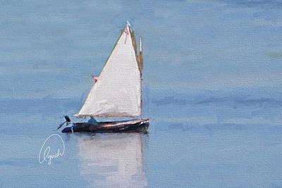 Sonny's Sailboat Signed Art Print