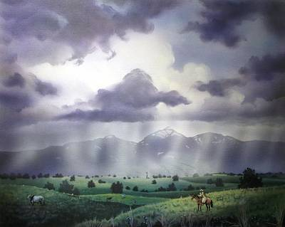 Empire Ranch Sonoita Arizona Art Print by Jerry Bokowski