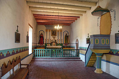 Photograph - Sonoma Mission Chapel Altar And Pulpit by David Lawson