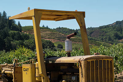 Photograph - Sonoma Valley Caterpillar Tractor Northern Ca by Toby McGuire