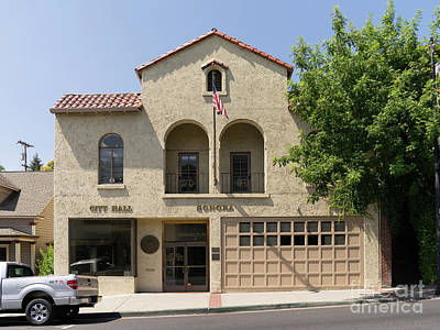 Photograph - Sonora California City Hall Dsc4146 by Wingsdomain Art and Photography