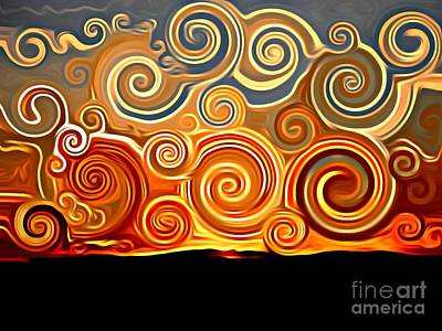 Digital Art - Sonora Sunrise  by Lisa Arbitrary