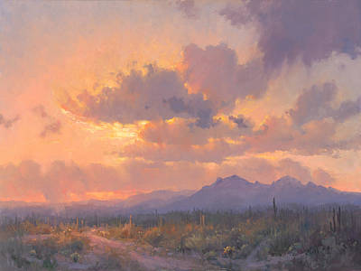 Cloud Painting - Sonoran Blush by Becky Joy