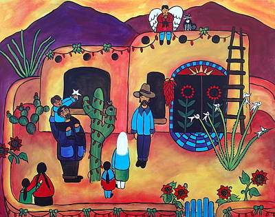Painting - Sonoran Christmas by Jan Oliver-Schultz