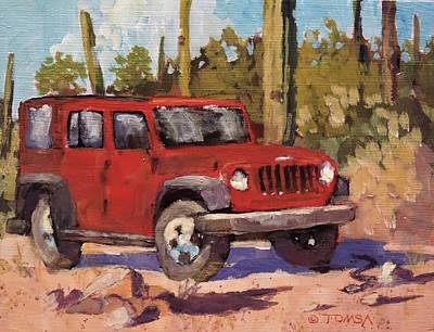 Painting - Sonoran Desert Patina by Bill Tomsa