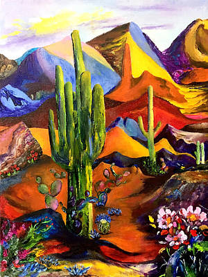 Painting - Sonoran Desert Reverie by Terry R MacDonald