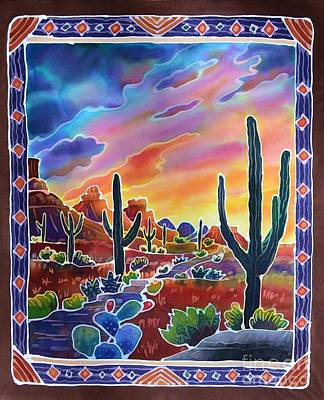 Desert Sunset Painting - Sonoran Desert Sunset by Harriet Peck Taylor
