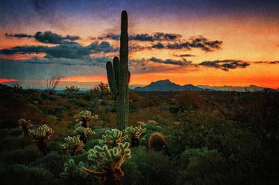 Photograph - Sonoran Sunset Southwest Style  by Saija Lehtonen
