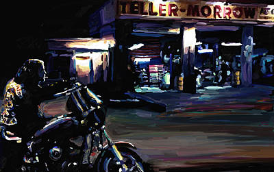Harley Davidson Painting - Sons Of Anarchy Jax Teller Signed Prints Available At Laartwork.com Coupon Code Kodak by Leon Jimenez
