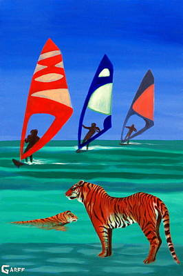 Painting - Tigers Sons Of The Sun by Enrico Garff
