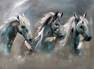 Painting - Sons Of Thunder Spirit by Barbie Batson