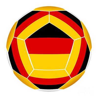Recently Sold - Sports Royalty-Free and Rights-Managed Images - Soocer ball with Germany flag by Michal Boubin