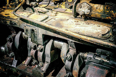 Photograph - Soot Machine Engine Block by John Williams
