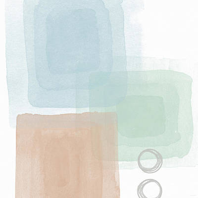 Peach Mixed Media - Soothing Peace 2 - Art By Linda Woods by Linda Woods
