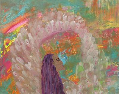 Mystifying Painting - Soothing Seraphim by Christine Musacchio