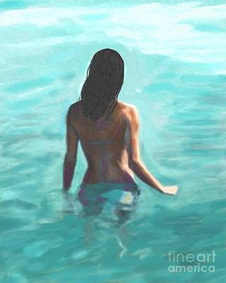 Painting - Soothing Swim by Leslie Allen