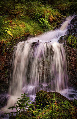 Photograph - Soothing Water Streams. Rest And Be Thankful. Scotland by Jenny Rainbow
