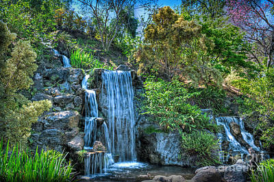 Photograph - Soothing Waterfall Moments by David Zanzinger
