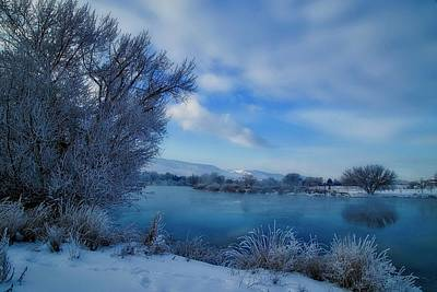 Photograph - Soothing Winter Blue  by Lynn Hopwood