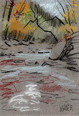 Creek Drawing - Sope Creek Minimal by Donald Maier