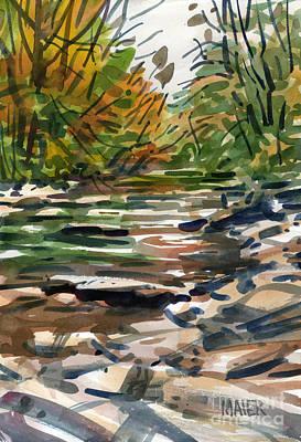 Sope Creek Six Art Print by Donald Maier