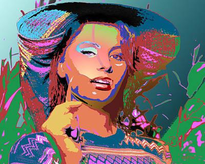 Print featuring the digital art Sophia 4 by John Keaton
