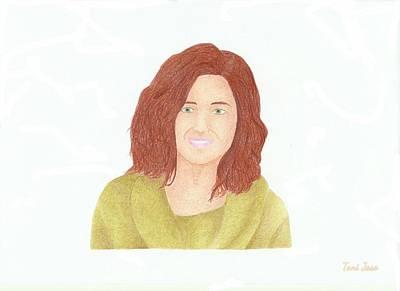 Must Art Drawing - Sophia Bush by Toni Jaso