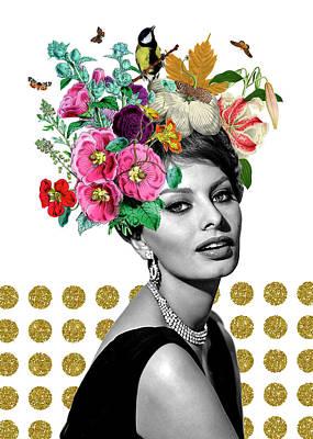 Sophia  Print by Gloria Sanchez