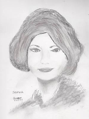 Drawing - Sophia  by John Bennett