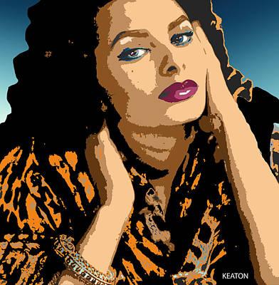 Print featuring the digital art Sophia by John Keaton