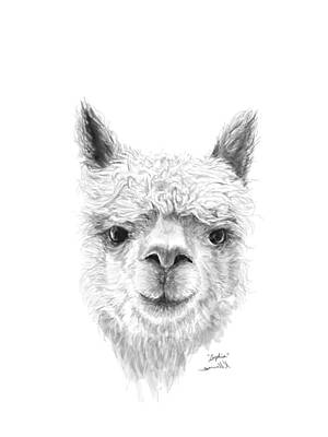 Llama Wall Art - Drawing - Sophia by K Llamas