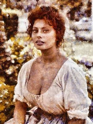 Lovely Lavender - Sophia Loren Hollywood Actress by Esoterica Art Agency