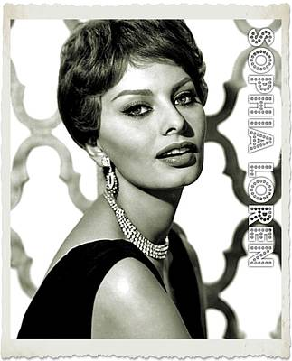 Musicians Royalty Free Images - Sophia Loren Royalty-Free Image by Esoterica Art Agency