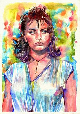 Babes Wall Art - Painting - Sophia Loren Painting by Suzann's Art