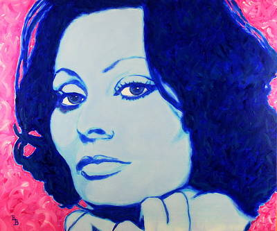 Painting - Sophia Loren Pop Art Portrait by Bob Baker